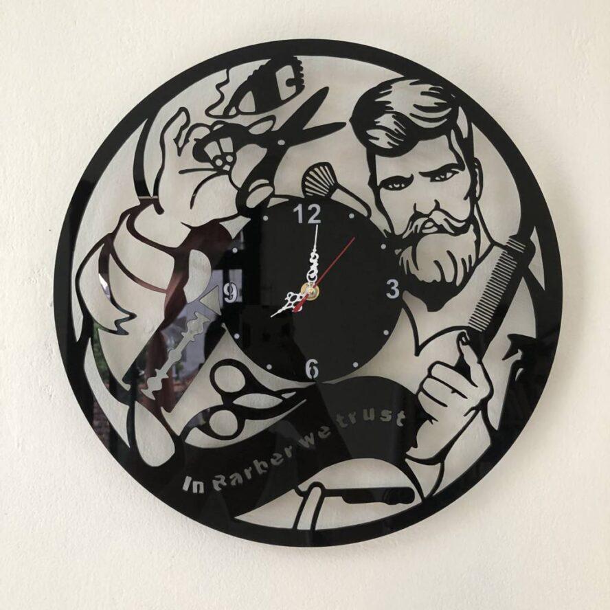 Đồng hồ treo tường kim trôi máy êm Barber